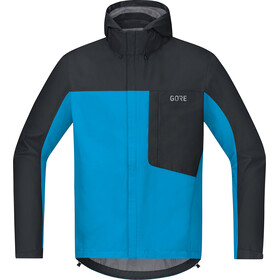 GORE WEAR C3 Gore-Tex Paclite Hooded Jacket Herre dynamic cyan/black